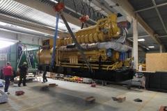 Verkauf und Beladung eines Caterpillar G3520C BHKW